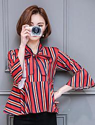 Sign print chiffon shirt shirt female 2017 spring models