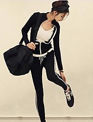 Activewear Set Femme Décontracté / Quotidien Sortie simple Couleur Pleine Col Ras du Cou Doublure Amovible Non Elastique CachemireManches