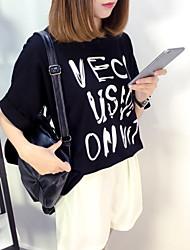Yoko summer new hot spot sign loose t-shirt femme lettres imprimé t-shirt