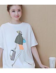 Sign Maternity 2017 summer new loose big yards long section cotton T-shirt short-sleeved shirt tide