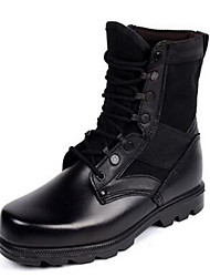 Men's Boots Comfort Leather Spring Fall Winter Casual Office & Career Comfort Black Flat