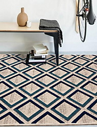Modern Flannel Area Rugs Polypropylene Twist 160*230