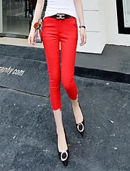signe 2016 été nouvelle version coréenne de pantalon slim pieds crayon pantalons de costume femme pantalon maigre