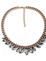 Women's Pendant Necklaces Imitation Diamond Chrome Rhinestone Fashion Euramerican Gold Jewelry For Party Special Occasion Birthday Gift