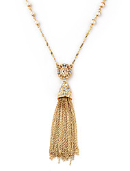 Women's Pendant Necklaces Crystal Jewelry Chrome Unique Design Tassels Jewelry For Birthday Thank You Gift 1pc