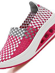 Серый Зеленый Синий Розовый-Для женщин-Для прогулок Повседневный-Синтетика-На танкетке-Удобная обувь Светодиодные подошвы-Сандалии