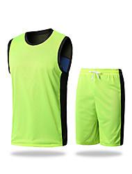 Homens Sem Mangas Exercício e Atividade Física Corridas Badminton Corrida Moletom Shorts Respirável Secagem RápidaPrata Vermelho Verde