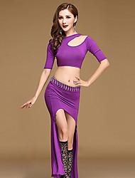 Devemos roupas de dança da barriga Mulheres treino modal split front top skirt