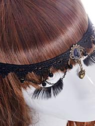 Da donna Per tutte le stagioni Tessuto Vintage Romantico Da serata Casual Molletta,imitazione dello zaffiro