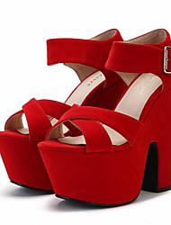 -Для женщин-Повседневный-Полиуретан-На толстом каблуке Блочная пятка-Босоножки-Сандалии