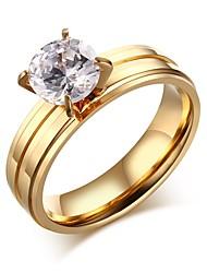 Ring Kreis Titanstahl Kreisform Gold Schmuck Für Alltag 1 Stück