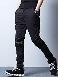 Youth Fall harem pants Korean version of casual pants feet Ingredient fold Slim harem pants feet