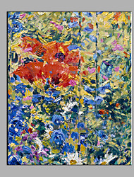 Hand-Painted Abstract Still Life Vertical Modern One Panel Canvas Oil Painting For Home Decoration