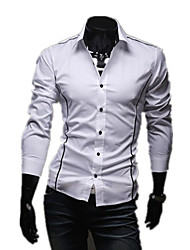 The Latest Men's Personality Fashion Chrome Casual Long-Sleeved Shirt