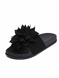 Women's Slippers & Flip-Flops Summer Comfort Fabric Casual Flat Heel Satin Flower Walking