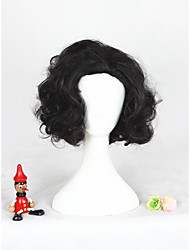 Short Wave Black Game of Thrones Jon Snow Synthetic 12inch Anime Cosplay Wigs CS-305A