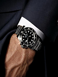 Hombre Reloj Deportivo Reloj Militar Reloj de Vestir Reloj de Moda Reloj de Pulsera Cuarzo Calendario Acero Inoxidable Banda Cosecha