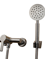 Contemporary Antique Modern Tub And Shower Widespread with  Ceramic Valve Single Handle Two Holes for  Stainless Steel , Bathtub Faucet