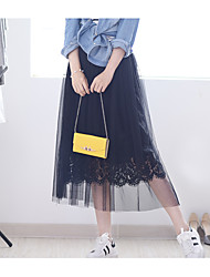 Lace skirt spring and summer long section perspective waist gauze tutu fairy veil pleated A-line dress