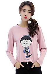 Long-sleeved t-shirt really making 2017 spring new female Korean student Maruko cartoon printed long-sleeved T-shirt female