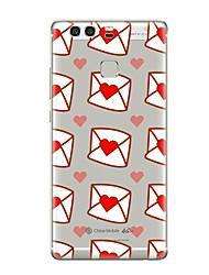 Pour Transparente Motif Coque Coque Arrière Coque Cœur Flexible PUT pour HuaweiHuawei P10 Plus Huawei P10 Lite Huawei P10 Huawei P9