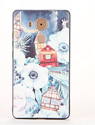 Pour Motif Coque Coque Arrière Coque Paysage Flexible PUT pour Huawei Huawei Mate 9 Huawei Mate 8