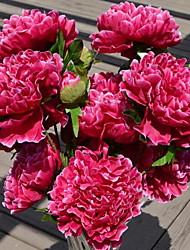 1 Ast Kunststoff Pfingstrosen Tisch-Blumen Künstliche Blumen 40*40*70