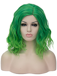 European and American fashion daily small pure and fresh and green gradient noodles party cos wig 1893