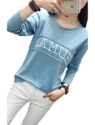 Students really making 2017 spring long-sleeved t-shirt female Korean version of the 2017 letter casual shirt girl