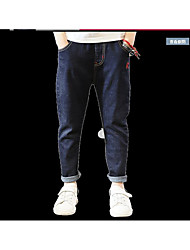 Boys' Going out Solid Jeans-Cotton Spring
