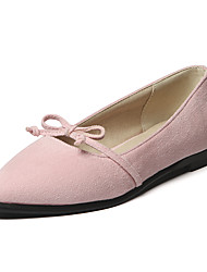 Flats Spring Summer Fall Winter Club Shoes Fleece Office & Career Dress Casual Flat Heel Bowknot
