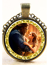 Necklace  Jewelry Beauty and the Beast Special Occasion Daily Casual Single Strand Euramerican Alloy 1pc Gift Black Silver Coppery