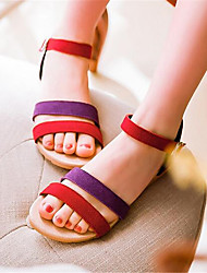 Women's Sandals Summer Slingback PU Casual Low Heel