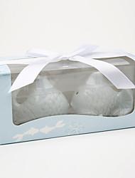 """Kissing Fish"" Ceramic Salt & Pepper Shakers Wedding Favor (Set of 2)"