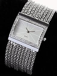 New Fashion Luxury Ladies Watch Quartz Women's Silver Tone Band Rhinestone Bangle Charm Bracelet Watch  relogio feminino