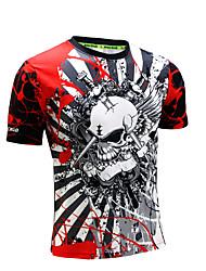 Men's Short Sleeve Running T-shirt Sweatshirt TopsBreathable Quick Dry Anatomic Design Ultraviolet Resistant High Breathability