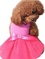 Chien Robe Vêtements pour Chien Mignon Décontracté / Quotidien Princesse Rouge