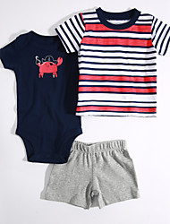 Baby Casual/Daily Striped Color Block Clothing Set,Stripes Summer