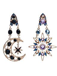 Boucle d'oreille Imitation de diamant Original Pendant Mode Personnalisé euroaméricains Acrylique Lune Soleil Or Bijoux PourQuotidien