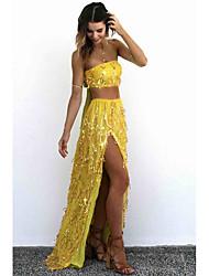 Women's Plus Size A Line Dress,Solid Peter Pan Collar Mini Long Sleeve Rayon All Seasons Low Rise Micro-elastic Medium