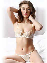 YUIYE® Demi-cup Bras Double Strap Adjustable Push-up Underwire Bra Fixed Straps Cotton Lace