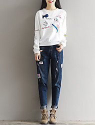 Sign in spring 2017 theatrical carrot pants waist was thin loose jeans female harem pants trousers
