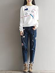 unterzeichnet im Frühjahr 2017 Theater Karotte Hosen Taille war dünn lose Jeans weibliche Pluderhosen Hose
