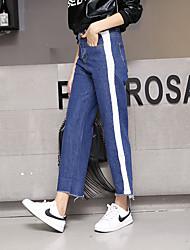 Sign nine straight waist wide leg jeans female