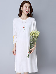 Sign literary early spring 2017 women's retro embroidered long-sleeved cotton dress robes female linen skirt