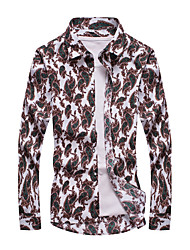 Men's Personality Fashion Casual Large Size Long-Sleeved Shirt