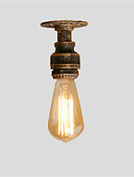 Loft Retro Industrial Style Water Pipe Semi Flush Mount Light with 1 Bulb Sockets Restaurant Cafe Bar light Fixture