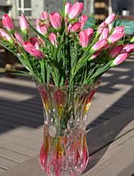 1 Ast Kunststoff Tulpen Tisch-Blumen Künstliche Blumen 25*25*35