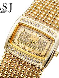 ASJ Жен. Модные часы Часы-браслет Имитационная Четырехугольник Часы Часы со стразами Японский Кварцевый Имитация Алмазный Стразы Медь