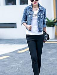 Новая корейская версия тонкой джинсовой куртке случайный пиджак пальто женский короткий пункт женщин знак
